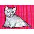 Here Kitty Cat Canvas Wall Art