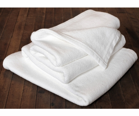 Herringbone Coverlet - White