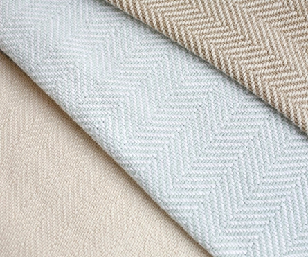 Herringbone Coverlet - White/Dove Gray