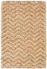 Herringbone Gold Braided Jute Rug
