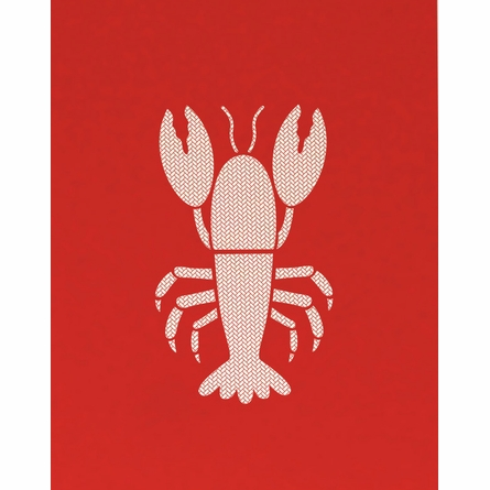 Herringbone Lobster Art Print