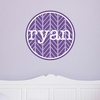 Herringbone Personalized Fabric Wall Decal