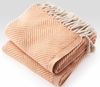 Herringbone Throw Blanket - Natural/Melon