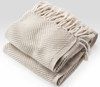 Herringbone Throw Blanket - Natural/Stone