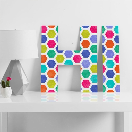 Hexagon 2 Decorative Letters