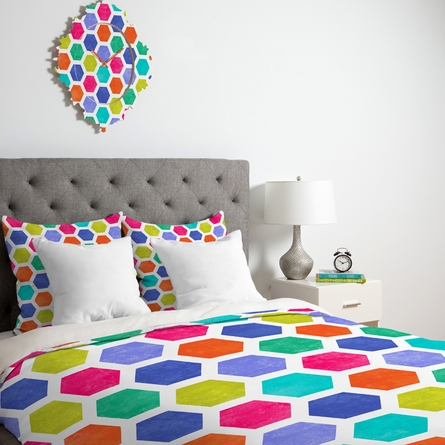 Hexagon 2 Duvet Cover