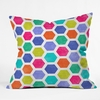Hexagon 2 Throw Pillow