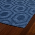 Hexagon Imprints Modern Rug in Blue
