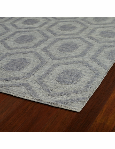 Hexagon Imprints Modern Rug in Steel