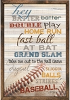 Hey Batter Batter Vintage Framed Art Print