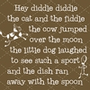 Hey Diddle Diddle Nursery Rhyme Canvas Reproduction