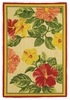 Hibiscus Hand Stenciled Rug