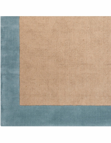 Hickory Border Rug in Light Blue