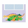 Hide N Seek-A-Saurus Paint by Number Wall Mural