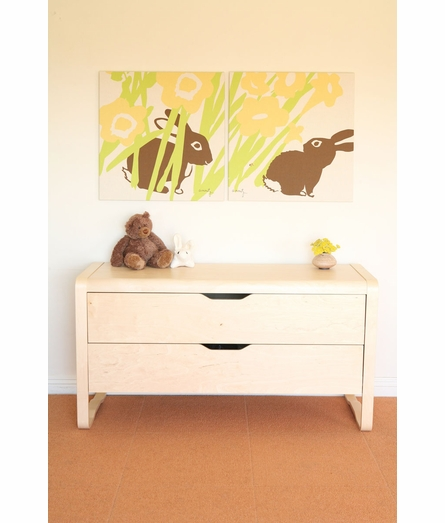 Hiding Bunny Organic Cotton Wall Print