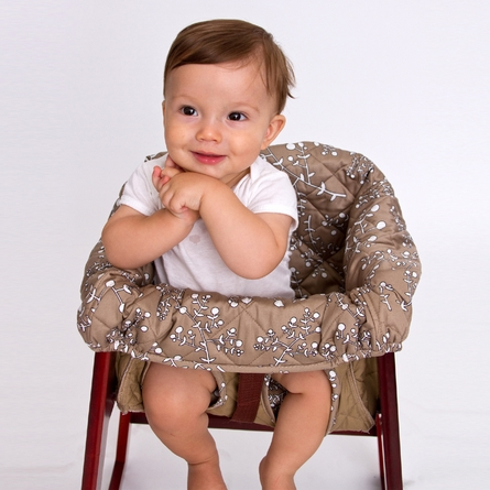 High Chair Cover in Khaki Berry
