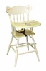 High Chair with Enchanted Forest Motif in Tone-on-Tone Tea Stain Crackle