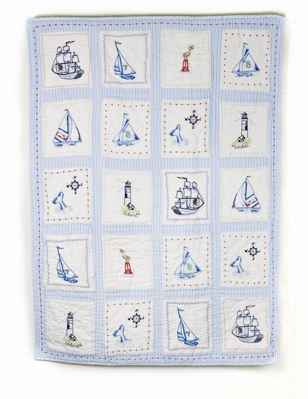 High Seas Crib Quilt