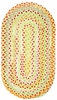 High Tea Braided Rug in Yellow
