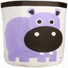 3 Sprouts Hippo Canvas Storage Bin