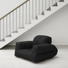 Hippo Futon in Black