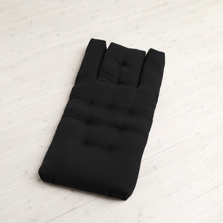 Hippo Small Futon in Black