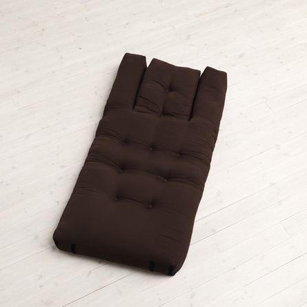 Hippo Small Futon in Chocolate