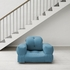 Hippo Small Futon in Horizon Blue