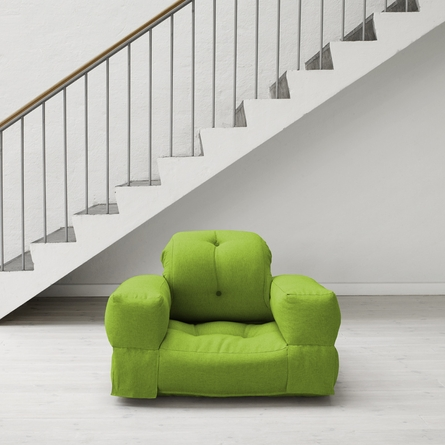 Hippo Small Futon in Lime