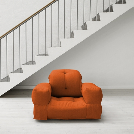 Hippo Small Futon in Orange