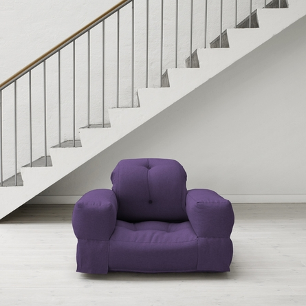 Hippo Futon in Purple