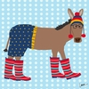 Hipster Donkey Canvas Wall Art