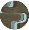 Hipster Mod Green Round Rug