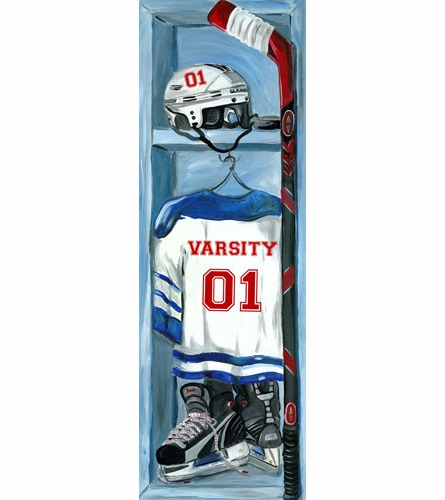 Hockey Locker Canvas Wall Art