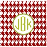 Holiday Houndstooth (monogram only)