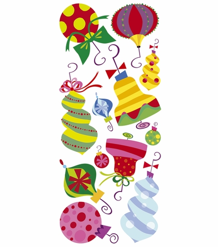 Holiday Ornaments Wall Decals