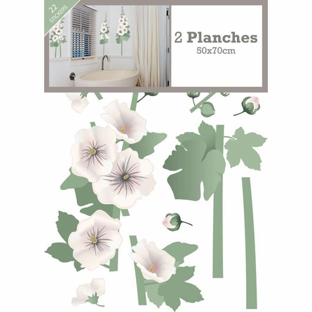 Hollyhocks Wall Decals