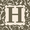 Home Monogram Canvas Reproduction - H