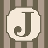 Home Monogram Canvas Reproduction - J