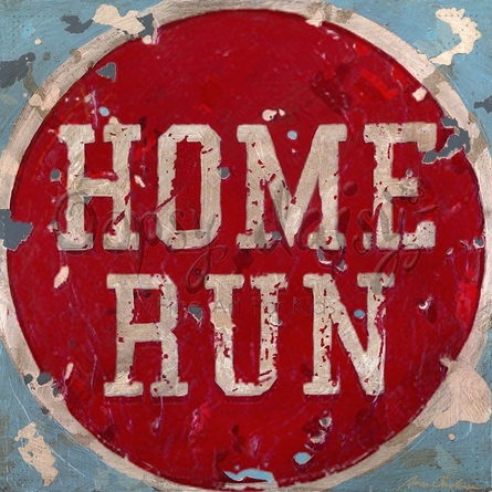 Home Run Canvas Wall Art