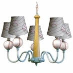 Home Run Five Arm Chandelier