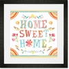 Home Sweet Home Floral Framed Art Print