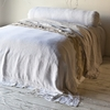 Homespun Coverlet with Crochet Lace