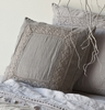 Homespun Square Throw Pillow