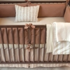 Honey Herringbone Crib Bedding Set