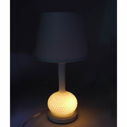 Honey Small Hobnail Milk Glass Table Lamp
