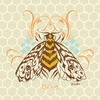 Honeycomb Bee Canvas Wall Art