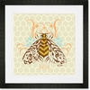 Honeycomb Bee Framed Art Print