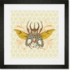 Honeycomb Beetle Framed Art Print