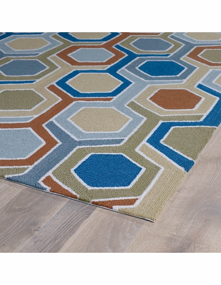 Honeycomb Indoor/Outdoor Rug in Chino